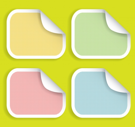 Illustration of colored striped stickers editable for your site