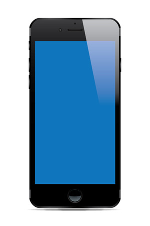 Smart Phone with Blank Screen - Vector Illustration