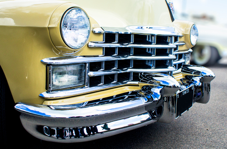 Bumper and grille of American Classic car