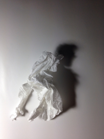 Super stars shadow from tissue Stock Photo