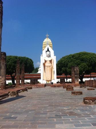 atta: Phra atta Rassa: L'arte e le antichit� di Sukhothai arte antica. Wat Yai Pra Sri Rattana mahathat woramahavihan Phitsanulok, Thailandia. Archivio Fotografico