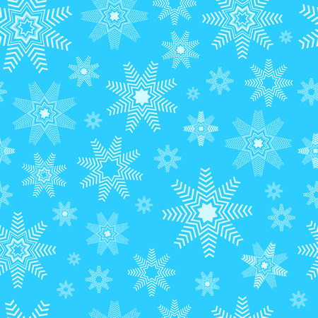 Vector winter background. Winter seamless pattern with snowflakes.