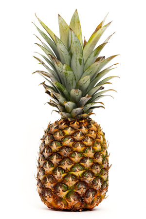 Pineapple isolated, white background
