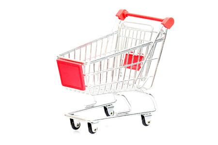 pushcart: shopping cart isolated on white background