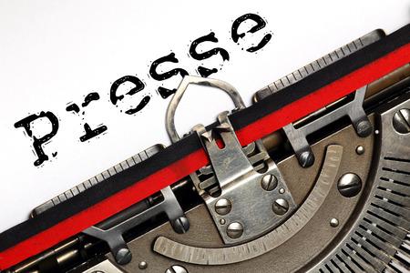 Antique Typewriter. Vintage Typewriter Machine Closeup, writting Presse 版權商用圖片