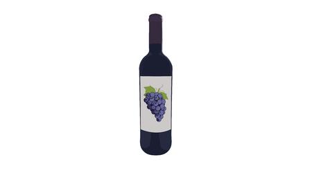 Wine Bottle Stock Illustratie