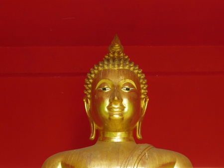 Buddha in red background Stock Photo