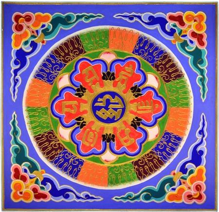 Chinese abstrac wall photo