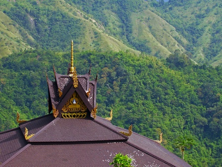 Wat thai on the mountain photo