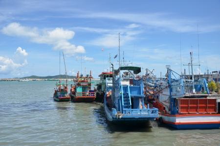 Traditional shipping boat, rayong thailand photo