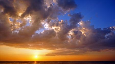 Sunset at Cha-am beach Thailand