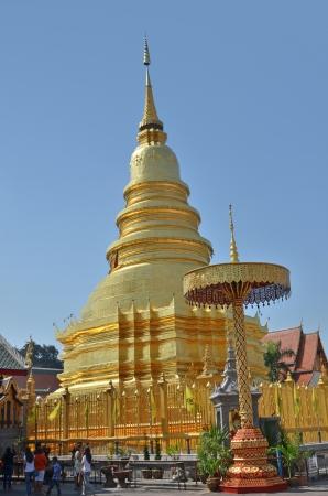 Wat Phra That Hariphunchai,Lamphun province, Thailand photo