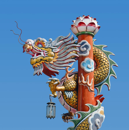 Chinese dragon with blue sky photo