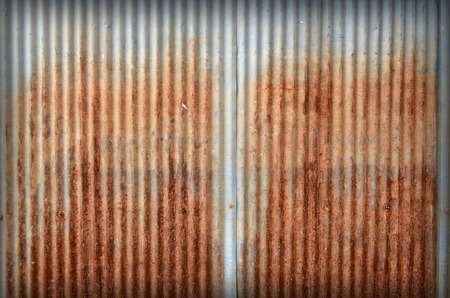 old zinc texture,rusty corrugated iron metal  photo