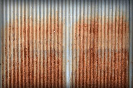 old zinc texture,rusty corrugated iron metal  photo
