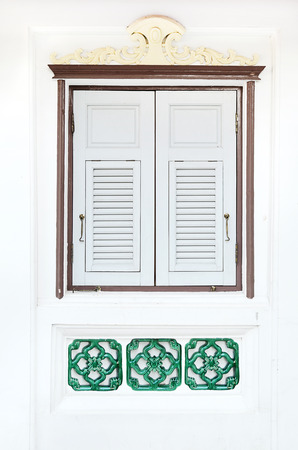 old window in europe style ,thailand photo