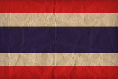 thailand flag: thailand flag pattern on the paper texture, retro vintage style