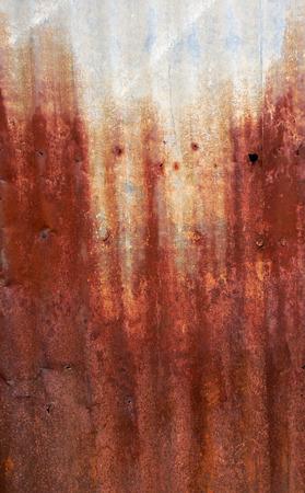 corrugated iron: rusty corrugated iron metal