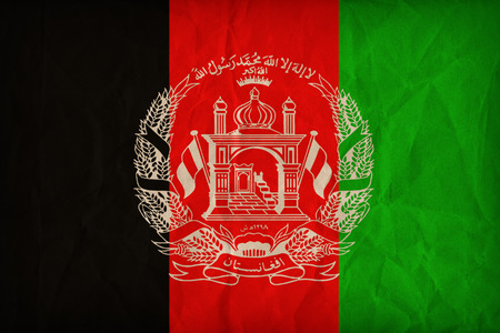Afghanistan flag pattern on the paper texture ,retro vintage style Stock Photo