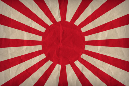 Imperial Japanese Army flag pattern on the paper texture ,retro vintage style
