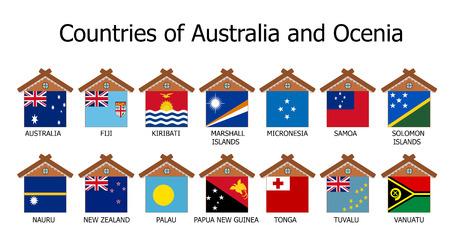 micronesia: Countries of Australia and Ocenia Stock Photo
