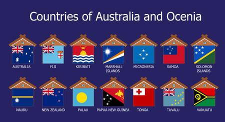 Countries of Australia and Ocenia photo