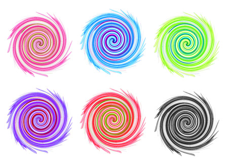 abstract graphic, distort twirl effect on white background photo