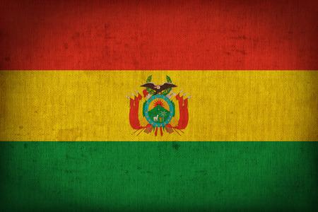bandera de bolivia: Patr�n de la bandera Bolivia en la textura de la tela, el estilo retro de la vendimia