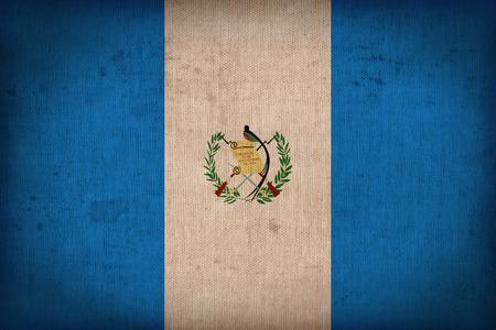 bandera de guatemala: Patr�n de la bandera Guatemala en la textura de la tela, el estilo retro de la vendimia