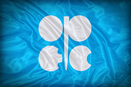 OPEC flag pattern on the fabric texture