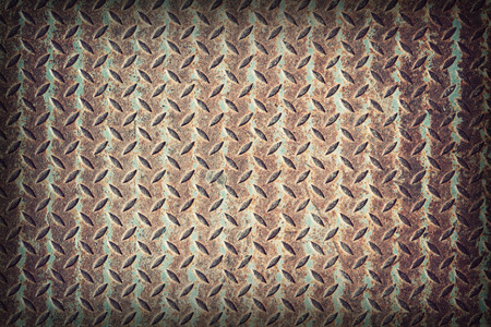 diamond metal plate texture,retro vintage style photo