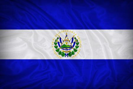 el: El Salvador flag pattern on the fabric texture