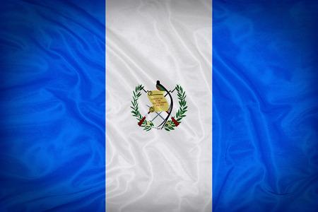 bandera de guatemala: Patr�n de la bandera Guatemala en la textura de la tela Foto de archivo