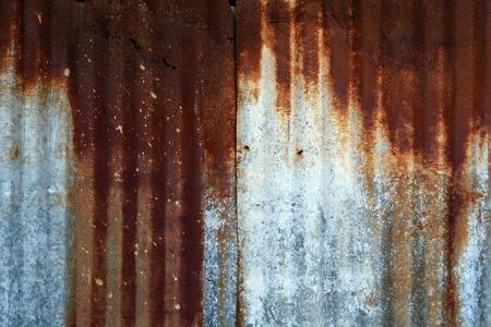 corrugated iron: old zinc texture,rusty corrugated iron metal Stock Photo
