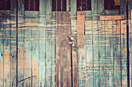 old wood door,retro vintage style photo