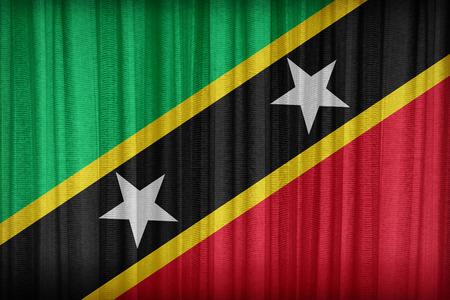 sain: Sain Kitts and Nevis flag pattern on the crack soil texture ,retro vintage style