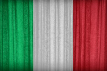 italy flag: Italia modelo de la bandera en la cortina de tela, de estilo vintage Foto de archivo