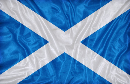 Scotland flag pattern on the fabric texture ,vintage style