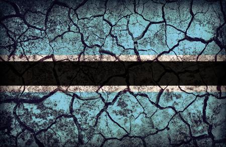 cleavage: Botswana flag pattern on the crack soil texture ,retro vintage style