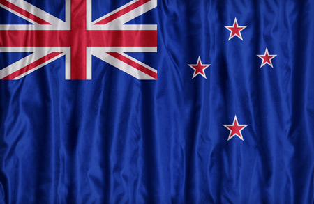 micronesia: New Zealand flag pattern on the fabric texture ,retro vintage style