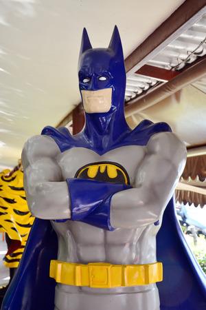 batman: AYUTTAYA,THAILAND - NOVEMBER 22, 2014 : Batman model at Thung Bua Chom floating market Editorial