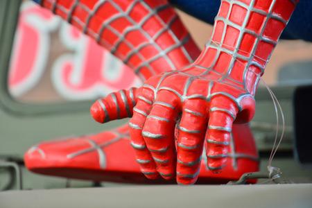 AYUTTAYA,THAILAND - NOVEMBER 22, 2014: Hand of Spider-Man model at Thung Bua Chom floating market