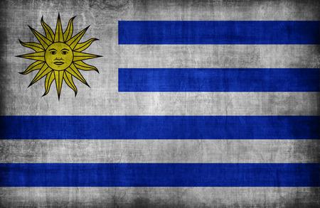 uruguay flag: Uruguay flag pattern,retro vintage style
