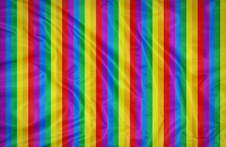 Rainbow color strips pattern on fabric texture Stock Photo