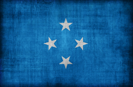 micronesia: Micronesia flag pattern,retro vintage style