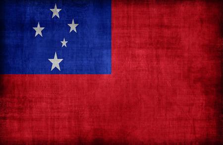 samoa: Samoa flag pattern,retro vintage style