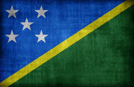 solomon: Solomon Islands flag pattern,retro vintage style Stock Photo