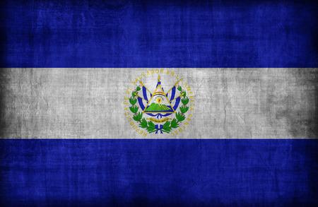 bandera de el salvador: Patr�n de la bandera El Salvador, de estilo retro de la vendimia