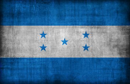 bandera honduras: Patr�n de la bandera Honduras, estilo retro vendimia Foto de archivo