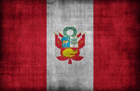 bandera peru: Patr�n de la bandera de Per�, estilo retro de la vendimia Foto de archivo